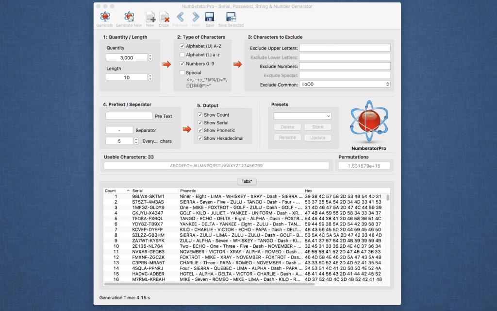 NumberatorPro Main Screenshot