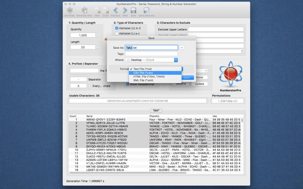 Numberator Pro Save Screenshot