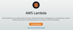 Lambda Getting Started