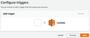 Lambda configure triggers