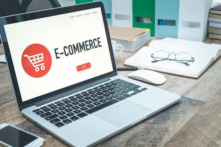eCommerce business website open on a laptop on a desk