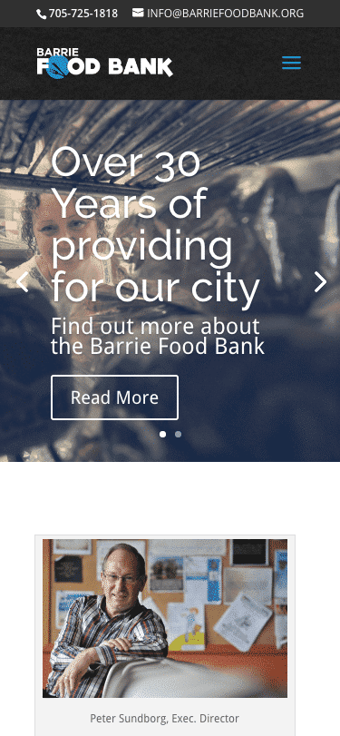 Barrie Food Bank mobile