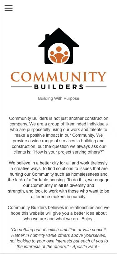 Community Builders mobile