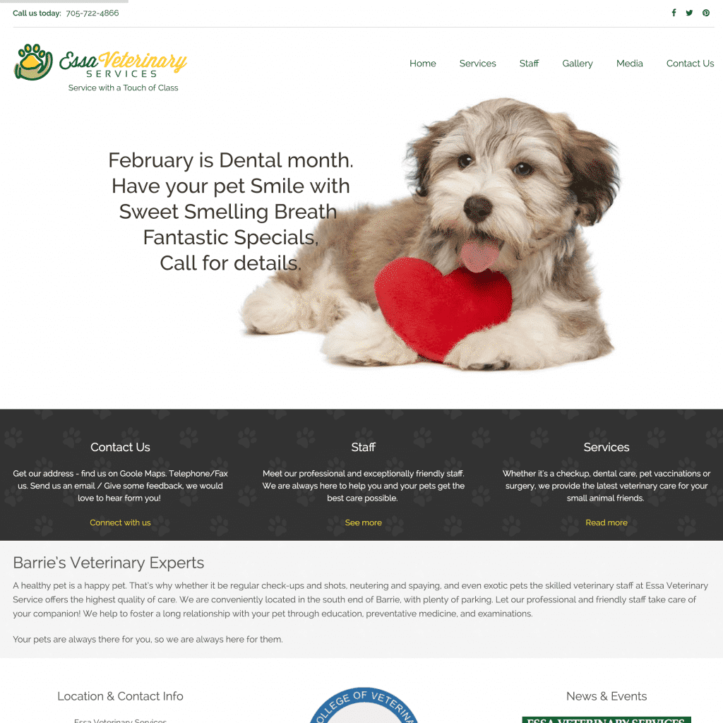 Essa Veterinary Services home