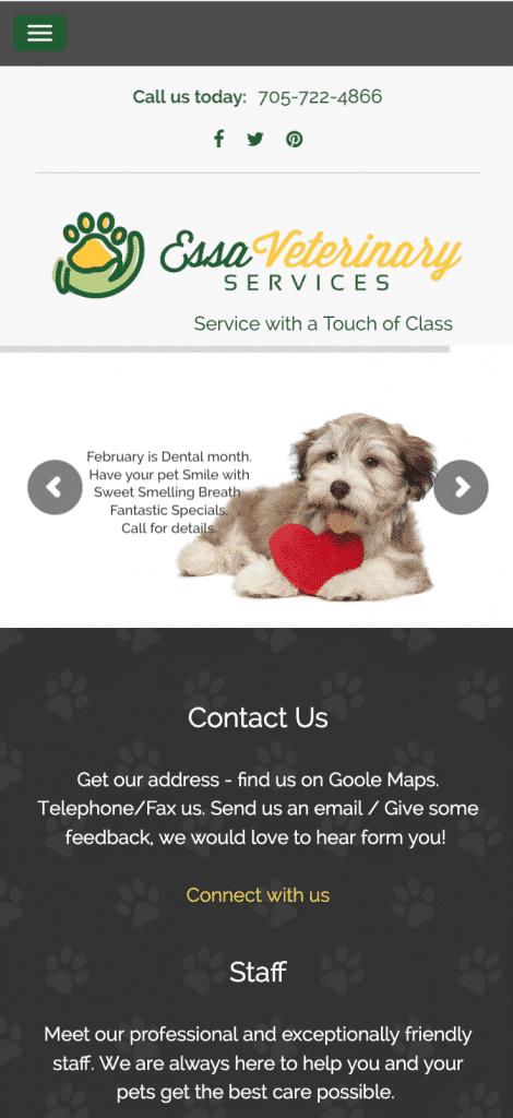 Essa Veterinary Services mobile