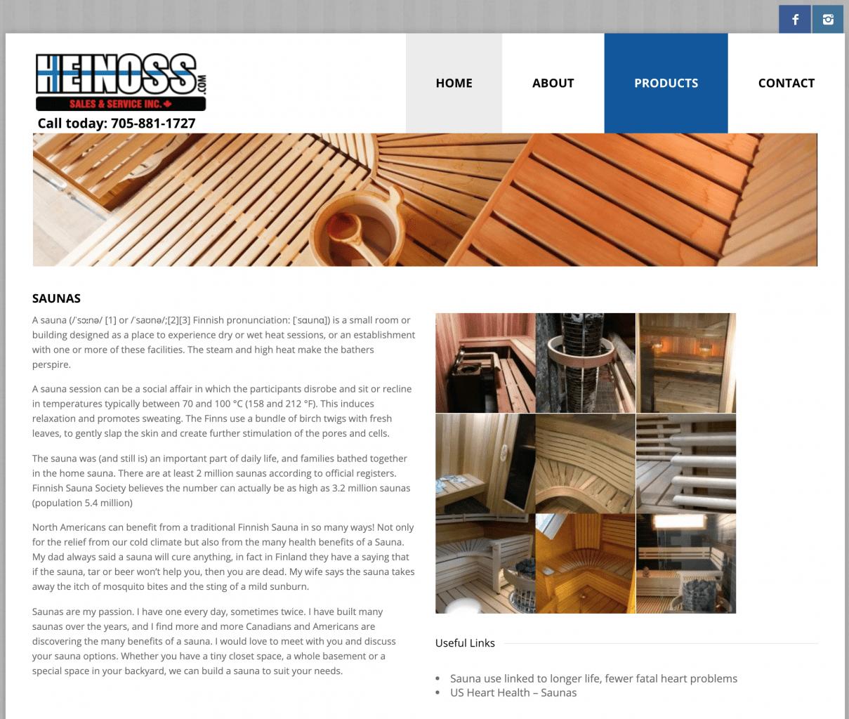 Heino Sales and Service - sauna