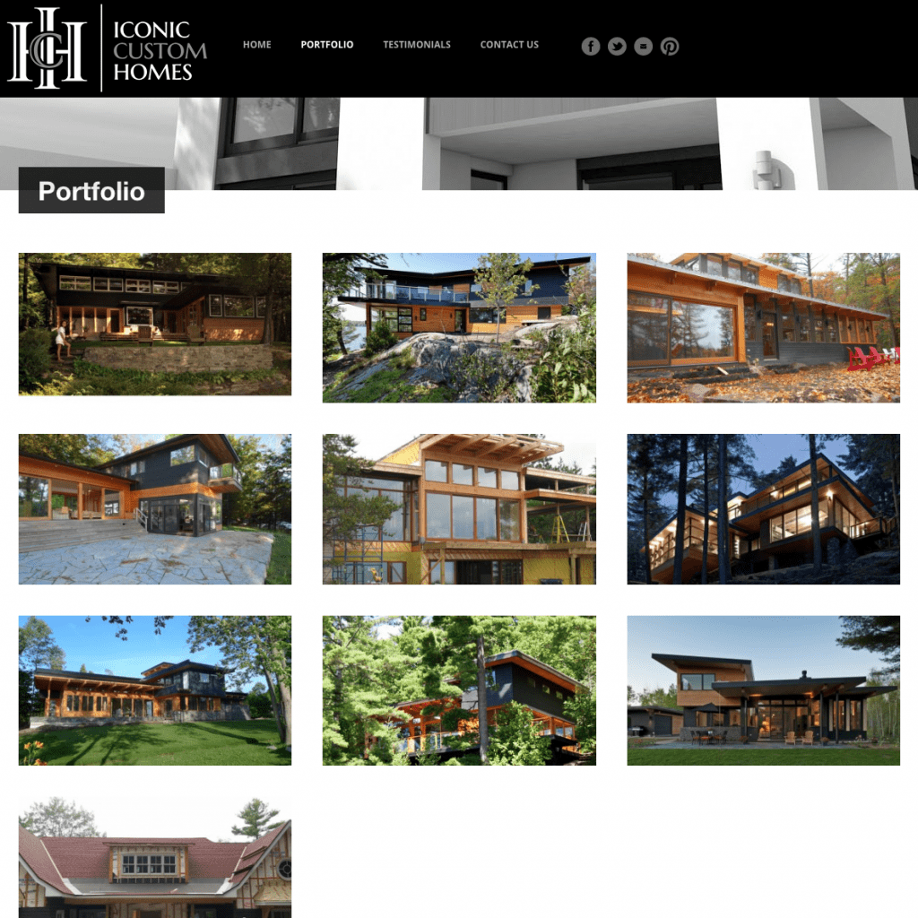 Iconic Custom Homes portfolio