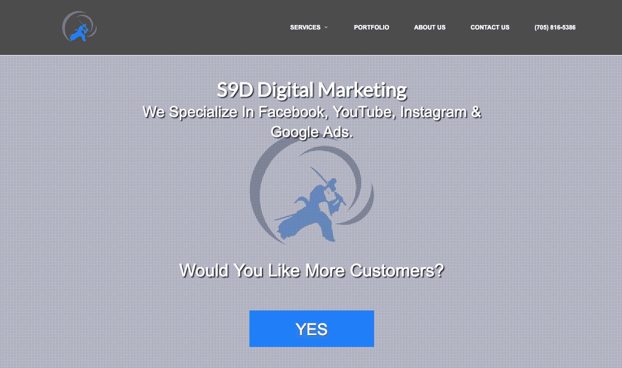 Samurai 9 Design marketing