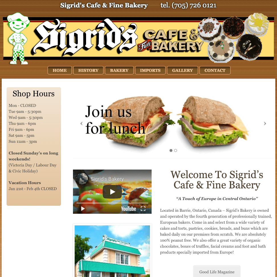 Sigrid's Cafe & Fine Bakery home