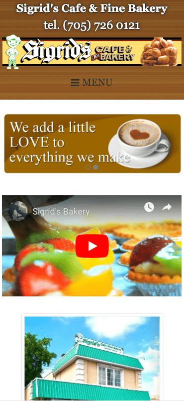 Sigrid's Cafe & Fine Bakery mobile