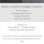 Sinclair Industrial Roofing mobile