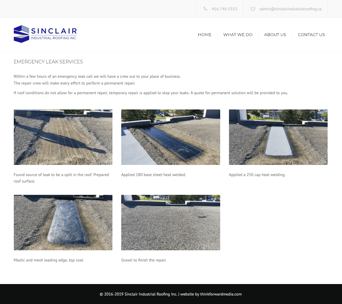 Sinclair Industrial Roofing what we do