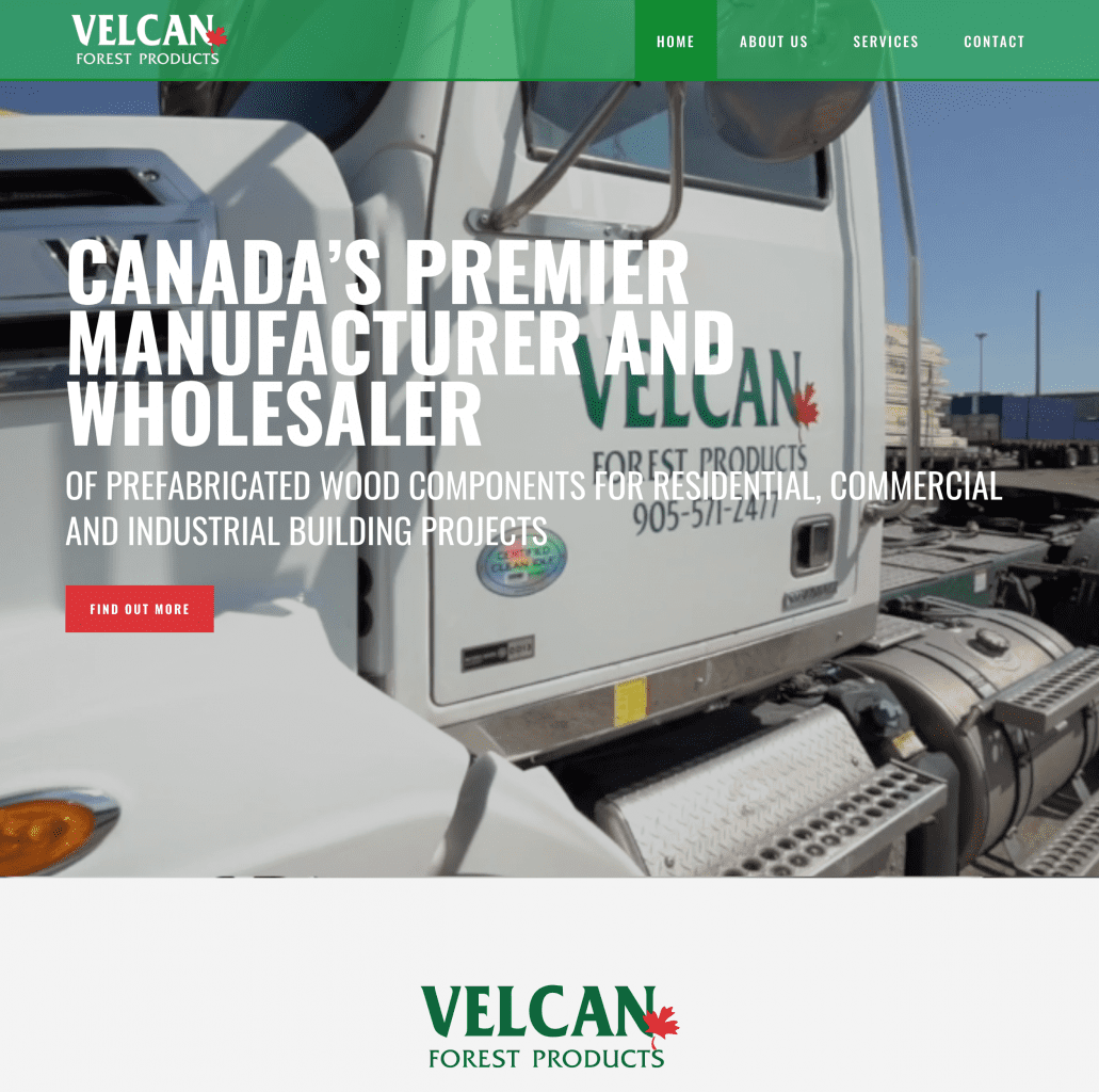 Velcan Forest Products home