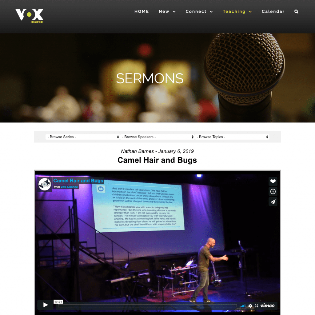 Vox Alliance sermons