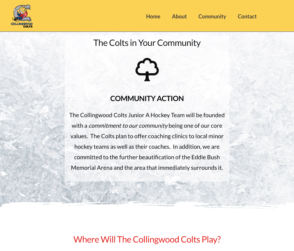 Collingwood Colts JrA Community