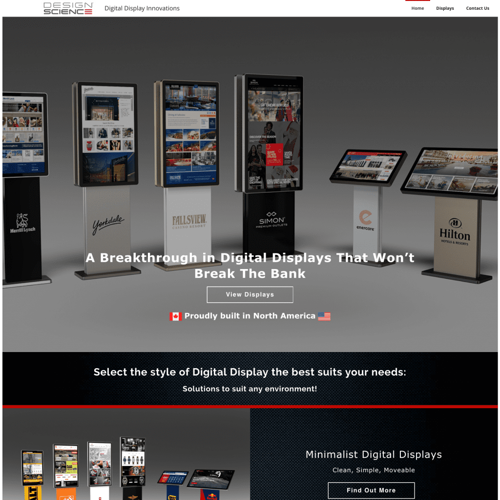 Baseline Digital Displays Homepage