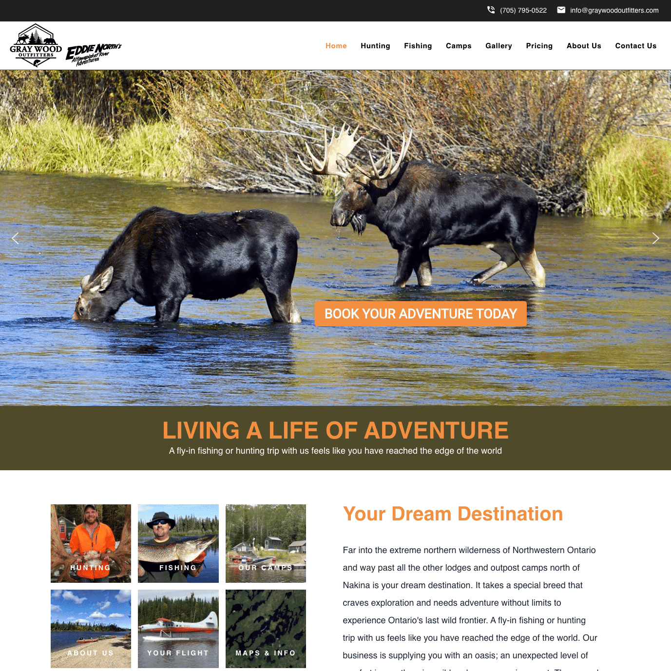 Gray Wood Outfitters Home Page
