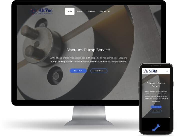 Baseline Digital Displays website running on a computer and mobile